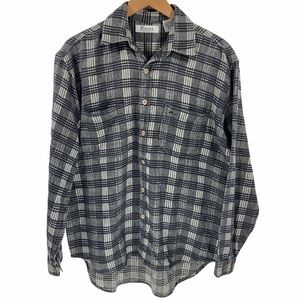 Roots Canada Plaid Button Up Long Sleeve Top Shirt